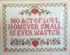 """Current Loving Thoughts Counted Cross Stitch Sampler Kit 8"""" X 10"""" NIP 1983"""
