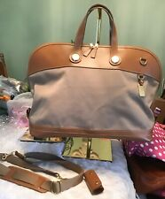 Dooney Bourke Cabriolet Fabric Leather XL Weekend Travel CarryOn Bag Taupe Brown
