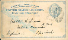 More details for 1891 postcard from usa  to captain r.m.a militia barracks ipswich