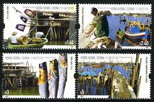 Hong Kong 1160-1163, MNH. Fishing Villages. Fish, Boats, 2005
