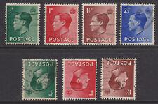1936 Kedviii Set Of 4 Sg457/460 Plus Sg457wi/459wi Inverted Watermark Nice Used