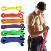 Resistance Bands Heavy Duty Loop Exercise Sport Fitness Tube Home Yoga Gym Latex
