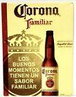 "Corona Familiar Beer Tin Tacker Sign - 23"" x 17.5 - New Man Cave (Tecate Modelo)"