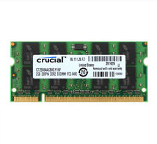 Crucial 2GB PC2-6400S DDR2 800Mhz RAM 200Pin SODIMM Laptop Memory Low Density