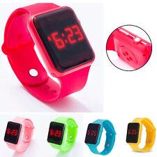 Silicone LED Kid Boy Girl Sport Watch Touch Digital Bracelet Wrist Watches Gift