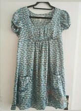 Topshop Vintage Turquoise Sheen Shift Dress SIZE 14. Mint Condition