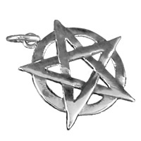 Pentagramm Anhänger 925er Silber Symbol Schmuck - NEU