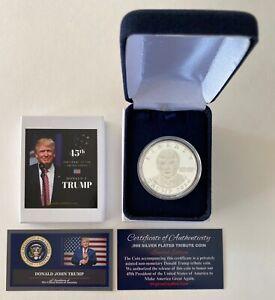 President Donald Trump...2016 LIBERTY Coin.. .999 Silver Overlay..with a COA*