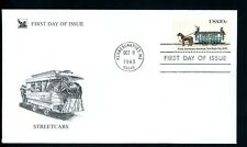 LOT 70435  USA  FDC COVER 1983 STREETCARS