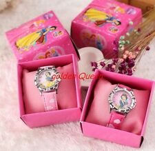 lot 12pcs cartoon princess Wristwatch Watches With Boxes Christmas gift
