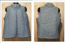 Performance Womens Plus Size 2X Gray Full Zip Puffer Vest Fully Lined EUC
