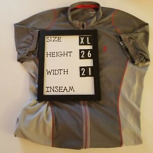Specialized XL, Cycling Jersey, Gray, Red, Full Zip, Extra Large, 100% Polyester