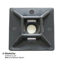 Schraub-Klebesockel für Kabelbinder 27 x 27 mm Schwarz 100 Stk.