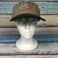 Mountain Dew SnapBack Hat Green Adult One Size Adjustable Polyester Cap