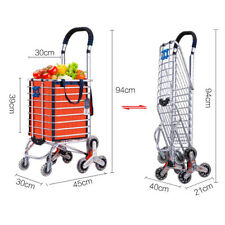 Orange/Purple Shopping Trolley Rolling 8 Wheel Stair Climb Collapsible Cart BMG