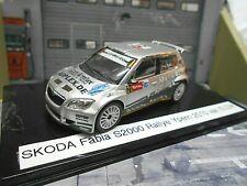 SKODA Fabia S2000 Rallye Ypern Ypres 2010 #21 van Eldik Merwede UMBAU Abrex 1:43