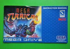 SEGA MEGADRIVE - MEGA TURRICAN - ORIGINAL PAL INSTRUCTION MANUAL 1994