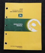 John Deere 2155 (Ser. #622,000 & up) 2355N Tractor Operators Manual Very Nice