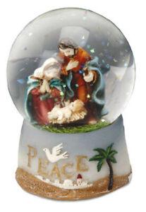 """Christmas Holy Family Mary Joseph and Jesus Resin Nativity Waterball New 2 1/2"""""""