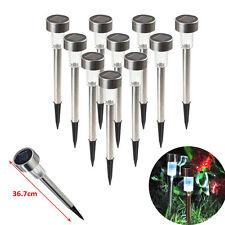 10 X Stainless Steel LED Solar Garden Landscape Path Lawn Lights Yard Lamp