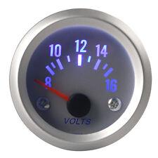 52mm 2'' Blue LED Light 8-16V Volt Car SUV Vehicle Voltage Meter Gauge Voltmeter