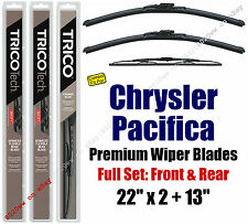 Wipers 3-Pack Premium Front Rear - fit 2004-2008 Chrysler Pacifica 19220x2/30130