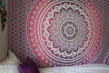 pink ombre Twin Indian Mandala Tapestry Bedspread Bohemian Wall Hanging TA46