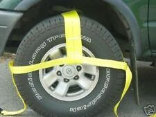 """13""""-35"""" TOW DOLLY STRAPS plus RATCHETS AXLE SHACKLE TIE DOWN CLEVIS SLING AUTO"""