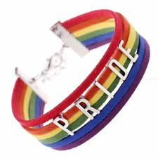 Rainbow Gay Pride PRIDE LETTERS, Handmade Wide Statement Bracelet LGBT Gay Pride