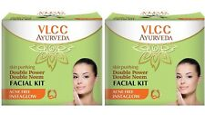 Pack of 2 VLCC Ayurveda Skin Purifying Double Power Neem Facial Kit-50g Each