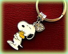 Woodstock + SNOOPY+ Heart KEYCHAIN Jewelry  Charlie Brown's Snoopy Beagle Dog