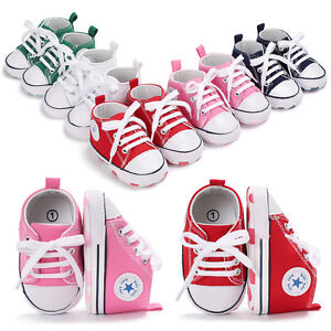 Newborn Baby Boy Girl Pram Shoes Infant Sneakers Toddler PreWalker Trainers 0-18