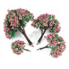 8Pcs Miniature Flower Tree Models 4-10cm HO Z N Layout for Roadway Scene Toy
