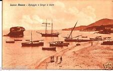 cm 187 Anni 20 LACCO AMENO (Napoli) Spiaggia e Fungo a mare - non viagg FP