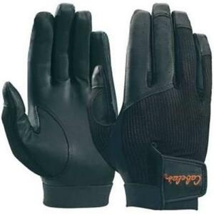 New Cabela's Black Leather Palm Mesh Back Shooting Hunting Gloves  Size  XL