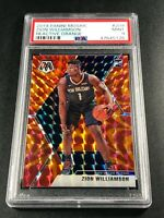 ZION WILLIAMSON 2019 PANINI MOSAIC #209 ORANGE REACTIVE PRIZM ROOKIE RC PSA 9