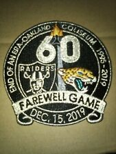 Oakland Raiders Final game in Oakland iron/sew on patch.