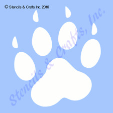 "7""  PAW STENCIL PAWS PRINTS ANIMAL STENCILS TEMPLATE TEMPLATES ART CRAFT #3 NEW"