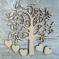 Wooden MDF Tree Shape Craft Blank, Wedding, Guestbook, Valentines Family Tree