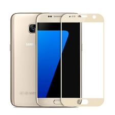 Genuine Tempered Glass Film FULL Screen Protector for Samsung Galaxy S7 GOLD