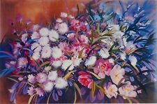 Chrysanthemums in Summer Light, by John Sindelar. Decorative Floral and Light .