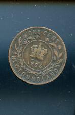 1896 Newfoundland Large Cent VG  MP790