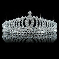 Crystal Wedding Bridal Princess Rhinestone Hair Accessory Tiara Crown Lady Gift