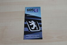 118656) Peugeot 605 - Preise & Extras - Prospekt 06/1998
