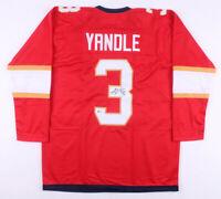 Keith Yandle Signed Florida Panthers Ice Hockey Jersey (Beckett COA) Autographed