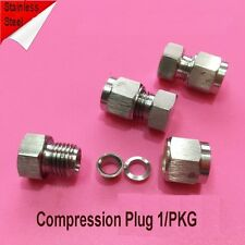 "Compression 1/8"" Tube Plug Stainless Steel Fitting Adapter LOK-ZH0"