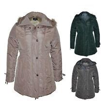 Faux Fur Polyester Plus Size Coats & Jackets for Women