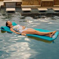 """Texas Rec 70"""" x 25"""" x 1.25"""" Sunray Swimming Pool Foam Mattress Float - Teal"""