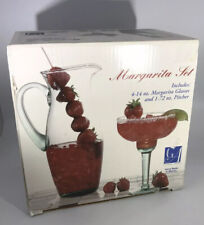 Margarita Set 4 Glasses 1 Pitcher Hand Made In Mexico