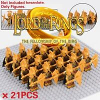 21pcs lot Lord Of The Rings High Elves Armies The Hobbit Minifigures Compatible